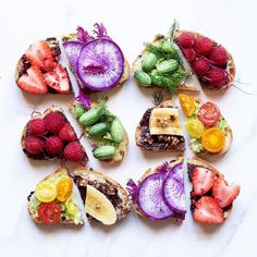 Delicious toasty inspiration. Simple delicious & nutritious. Definitely a weekend goal! #Repost @alphafoodie  Which would you pick ?! Sweet: #Homemade Nutella topped with strawberries banana or raspberry Savoury: mashed #avocado topped with #rainbow #tomatoes cucamelon berries or purple radish  ps: cucamelon #berries look like mini #melons but taste like #cucumber hence the name.  Styling inspired by my beautiful friend Stephanie @stephanie.h.park   #inspiration #weekend #smallbusiness…