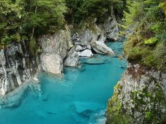 Crystal blue water South Island, New Zealand.  Blue Pools, Haast Pass. www.exclusivetravelgroup.com