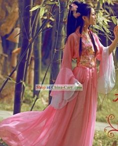 Ancient Chinese Pink Beauty Costumes