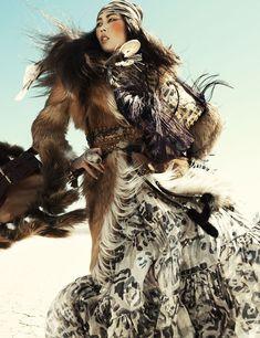 Liu Wen in 'Wild Dreams' ~ Photos: Greg Kadel. Styling: Katie Mossman ~ Vogue Germany November 2010.