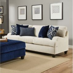 Save the Simmons Upholstery Hattiesburg Stone Queen Sleeper Sofa by Three Posts Cushion Arrangement, Furniture Arrangement, Sleeper Sofa, Sectional Sofa, Living Room Furniture, Home Furniture, Living Rooms, Apartment Living, Furniture Ideas