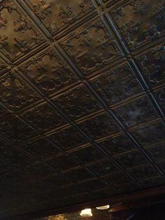 Beautiful Tin Ceiling Decor in Chicago Pub.