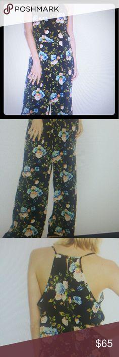 CLOSETCHIQ BOUTIQ..FLORAL PRINT jumpsuit CLOSETCHIQ BOUTIQ..FLORAL PRINT KEYHOLE BACK jumper ..blue floral or black floral Closetchiq Boutiq  Pants Jumpsuits & Rompers
