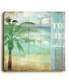 Look At This #zulilyfind! Palm Tree Plaque #zulilyfinds