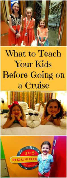 Cruises are fun for the entire family but it's important for kids to know certain things when on them. Here are some helpful reminders.
