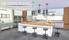 Blandco No More: Updated Solid is Sensational & Wood You Love My Kitchen Recolours at Simsational Designs via Sims 4 Updates