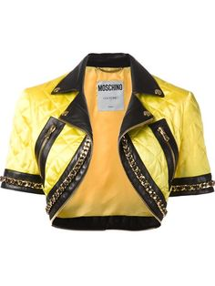 Shop Moschino quilted cropped jacket in Elite from the world's best independent boutiques at farfetch.com. Over 1000 designers from 300 boutiques in one website.