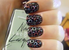 Holy Manicures - circle and dot manicure - nail art