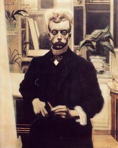 Leon Spilliaert - Self Portrait With Red Pencil, 1908