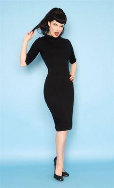 Little black dress. pin-up perfect!
