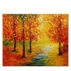 Canvas Art Landscape Painting Art Large Art by TexturePainting