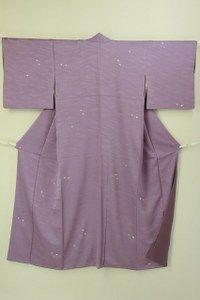 Purple komon kimono / 紫色 地紋線柄と飛びの絞り柄 小紋   #Kimono #Japan http://global.rakuten.com/en/store/aiyama/