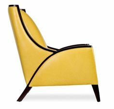 I need a yellow room!  Mood Chair by Cabot Wrenn.  Maple and leather