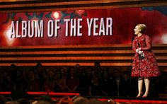 Adele presents the award for Album of the Year! Listen to her station here: http://www.iheart.com/artist/Adele-126564/ #Adele #music #21 #Grammys #iHeartRadio