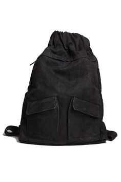 IISE monk sack. Silk/cotton body with leather zipper deets. $385 #black #pretentious