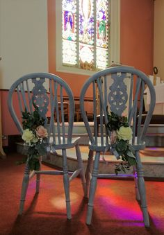 Country Chic style Altar chairs for couple Church Fashion, Church Ceremony, Country Chic, Altar, Vip, Chairs, Couple, Weddings, Furniture