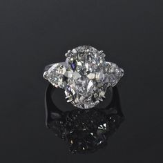 Natural GIA 8 Carat D color IF Oval Diamond Platinum Engagement Ring  Size 6.25 #ThreeStone