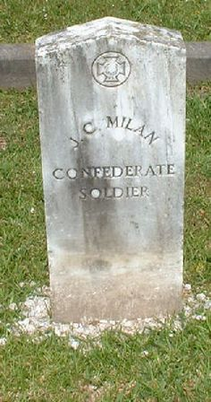 J. C. Milan by civil war grave sites, via Flickr