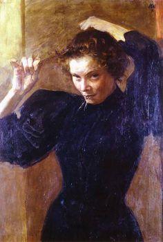Wojciech Weiss - Paryżanka, 1900