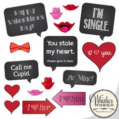 Valentine Photo Booth Props Bloggers Fun Family Projects