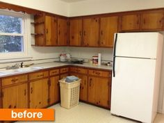 This is the EXACT layout and cabinets that my rental kitchen has!!!!!! A 1950s Kitchen