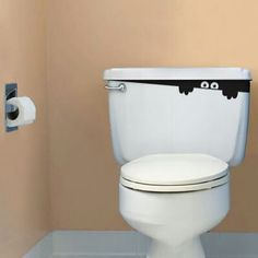 I think if i did this to my toilet, i would go to use the bathroom in the middle of he night and panic cuz there's somebody in my bathroom. :)