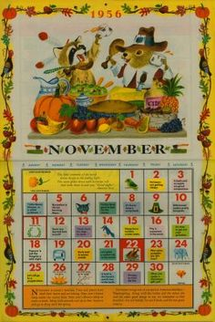 "From ""The Golden Calendar, 1956"" - By John Peter, Illustrated by Richard Scarry"