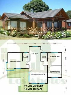 Vacation home KR Dream House Plans, Small House Plans, House Floor Plans, Tiny House Design, Home Design Plans, House Layouts, House In The Woods, Future House, Building A House
