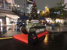Girls und Panzer and World of Tanks reveal a unique Christmas tree - http://sgcafe.com/2013/12/girls-und-panzer-world-tanks-reveal-unique-christmas-tree/