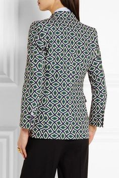 Gucci - Printed Cotton Blazer - Emerald - IT48