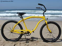 Today's Bike of the Day is the Firmstrong Bruiser - Yellow! #beachbikes #firmstrong #bruiser #beachcruiser
