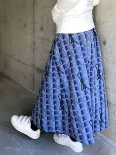 Size: Length This lightweight flair skirt will make you want to go out in a merry mood. Jacquard Fabric, Cotton Fabric, Indigo Colour, Cute Japanese, Spring Colors, Stripes Design, Tie Dye Skirt, Casual Wear, Lace Skirt