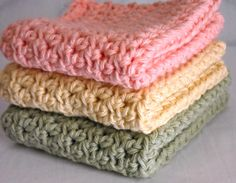 Pretty as can be dishcloths - FREE directions in comments #crochet
