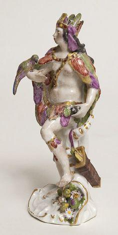 "Figurin ""Amerika"", 1745, Johann Joachim Kändler, German, born 1706, dead 1775 Manufacturer: Porzellan-Manufaktur Meissen, Meissen, Germany"