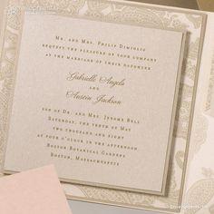 Elegant Blush and Gold Wedding Invitation,  Vintage Blush and Gold Wedding Invitation, Classic Blush and Gold Wedding Invitation by SuitePaper on Etsy https://www.etsy.com/listing/114633353/elegant-blush-and-gold-wedding