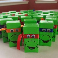 Ninja Turtle juice boxes (green duct tape)