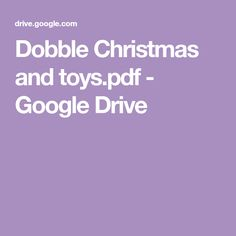 Dobble Christmas and toys. Toddler Activities, Google Drive, Card Games, Projects To Try, Printables, Christmas, Kids, Advent, Chanel