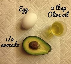 Avocado & egg hair moisture treatment - right.  Like I'm going to waste an avacado on my hair.  I don't think so.