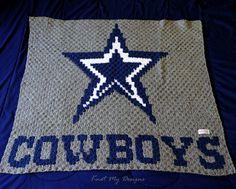 Crochet Blue Star Cowboys Baby Blanket - Knot My Designs Knot Blanket, Crochet Heart Blanket, No Sew Fleece Blanket, Blue Blanket, Crochet Baby, Crochet Blankets, Cowboy Baby, Crochet Cowl Free Pattern, Crochet Blanket Patterns