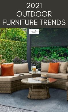 If you're planning on sprucing up your outdoor space in time for summer, updating your furniture is a simple option that can make a big difference. We take a look at the key outdoor furniture trends for 2021 to help inspire your shopping. #growingfamily #outdoorliving