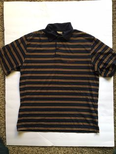 122b254fd VANS Vintage 90s Grunge Skater BlueStriped Polo Shirt Size Medium #fashion  #clothing #shoes