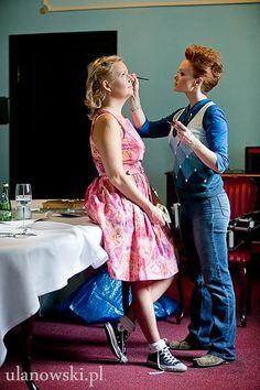 Charms of Business 2013, backstage. Justyna Niebieszczanska (BRIDGEHEAD)& Kamilla Jastrzębska (FENIKSSTYLE). #PR #make-up #business