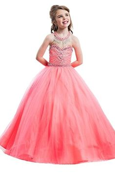 Beiji Girls' Jewel Crystals Birthday Dress Princess Pre-teen Pageant Ball Gown 12 US Watermelon - Brought to you by Avarsha.com