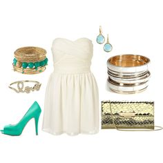 Little White Dress, created by coolchickcarol on Polyvore