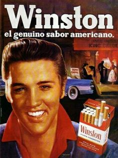 Winston -Elvis-, What ? Elvis never advertised cigarettes. Vintage Cigarette Ads, Cigarette Brands, Vintage Ads, Vintage Posters, Old Advertisements, Retro Advertising, Retro Ads, Poster S, Magazine Ads