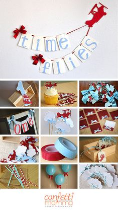 Airplane Party Decoration. Ships in 2-5 Business Days. Time Flies Birthday…