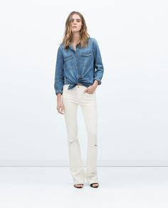 Image 1 of FLARED JEANS from Zara