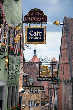 Street Signs in Rothenburg ob der Tauber, Germany - #famfinder
