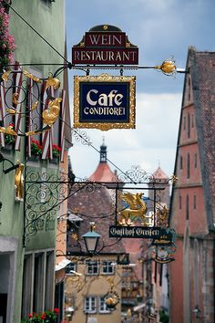 Street Signs in Rothenburg ob der Tauber, Germany - #famfinder