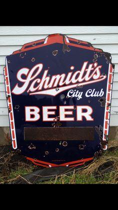 Schmidts Porcelain Beer Sign